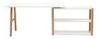Escritorio giratorio diseño escandinavo blanco y roble L160 GILDA