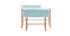 Escritorio infantil con banco azul y madera clara BERTY