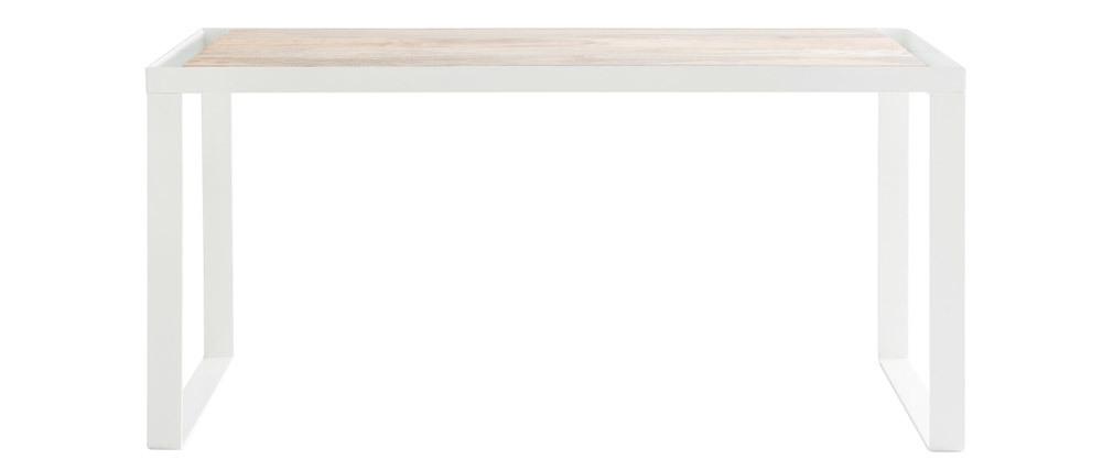 Escritorio mango y metal blanco L150 cm PUKKA