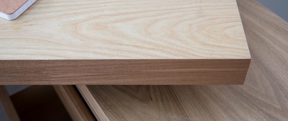 Escritorio moderno modular con almacenaje 2 cajones amovible madera MAX