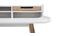 Escritorio nórdico madera y blanco 2 cajones L140 cm OPUS