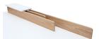 Escritorio nórdico madera y blanco L180 cm TOGARY