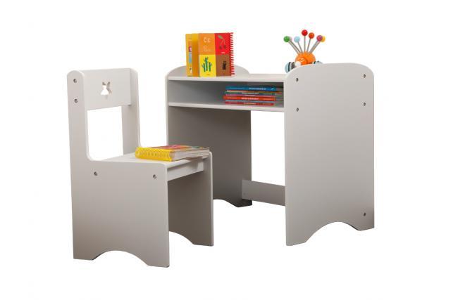 Escritorio y silla para ni os estrella miliboo for Silla escritorio nina