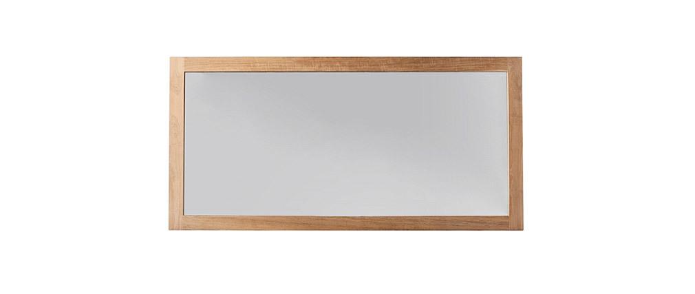 Espejo de baño en teca 140 x 70cm SANA