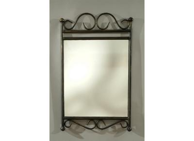 Espejo FLORENCE de acero, estilo hierro forjado