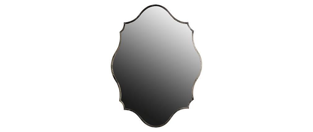Espejo latón plateado 70x94cm MAJORELLE