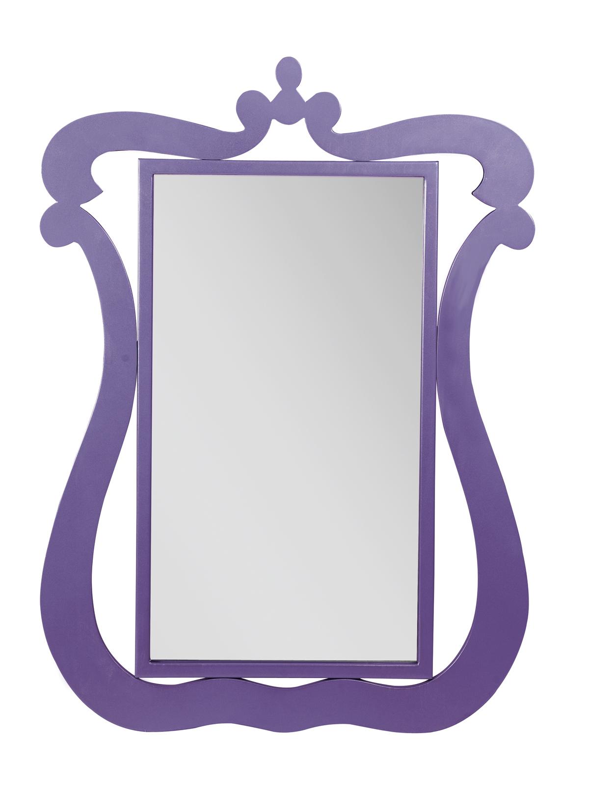 Espejo mural LOUISA – color violeta