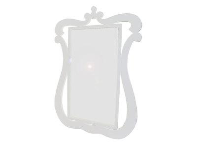 Espejo pared LOUISA - color blanco