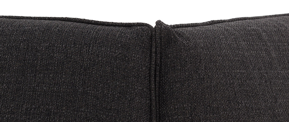 Esquina de sofá moderno tejido gris oscuro MODULO