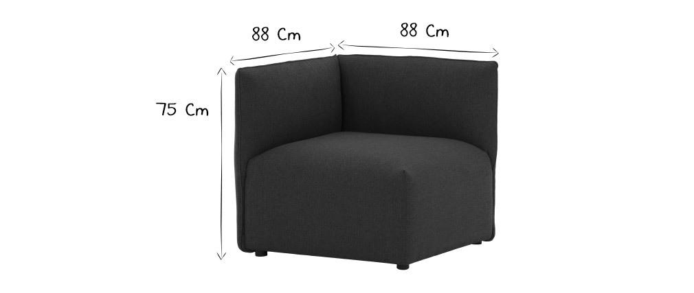 Esquina de sofá moderno tejido natural MODULO