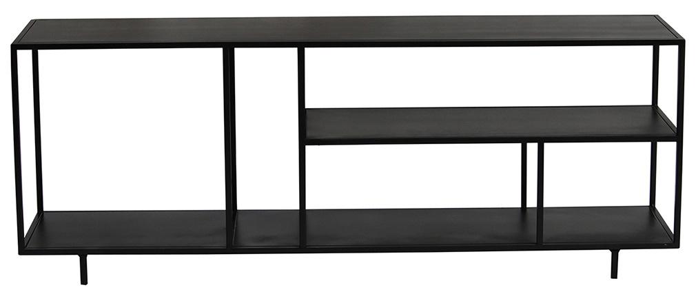 Estantería baja moderna en metal negro L160 cm KARL