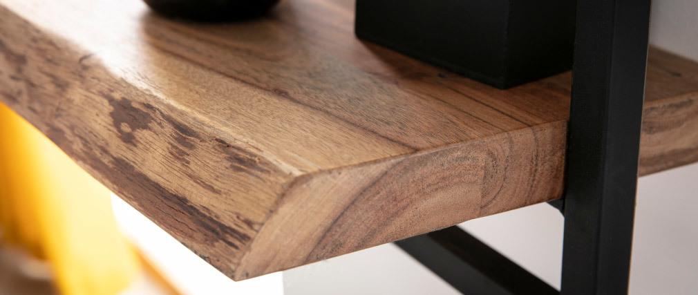 Estantería de pared en madera maciza y metal negro vertical ERNEST