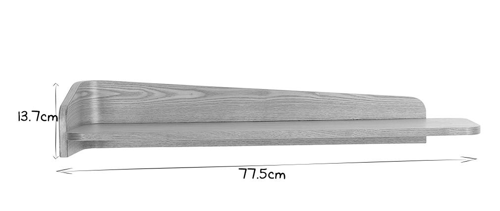 Estantería de pared fresno 76 cm NORDECO