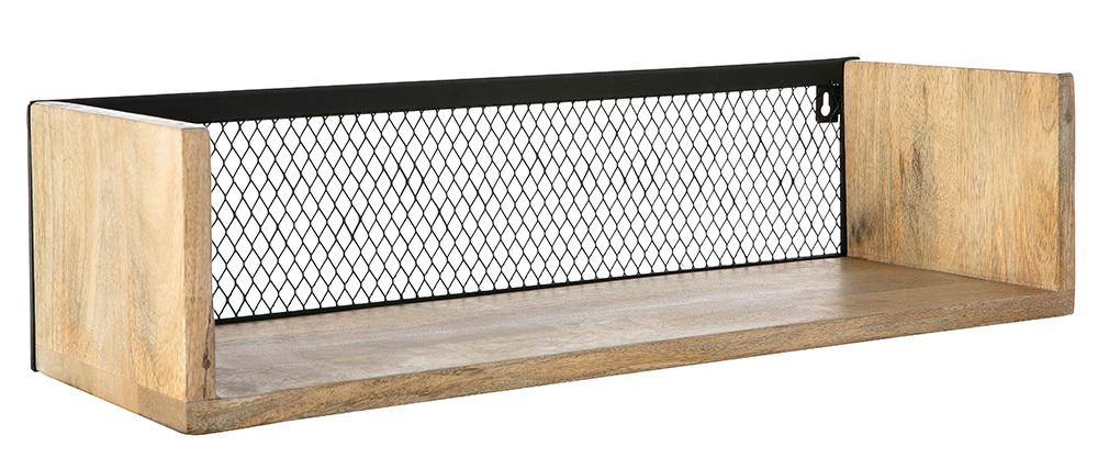 Estantería de pared industrial mango y metal 60 cm RACK