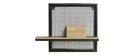 Estantería de pared industrial metal y mango macizo L50 cm RACK