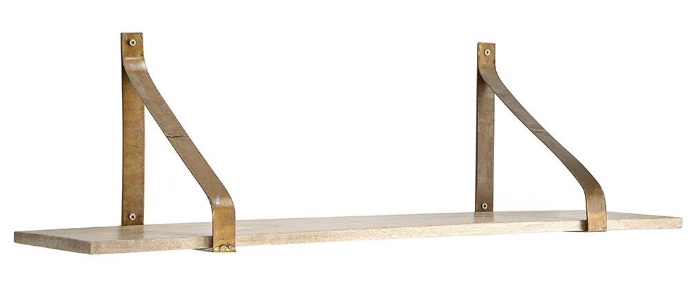 Estantería de pared metal envejecido y madera 80cm MODO