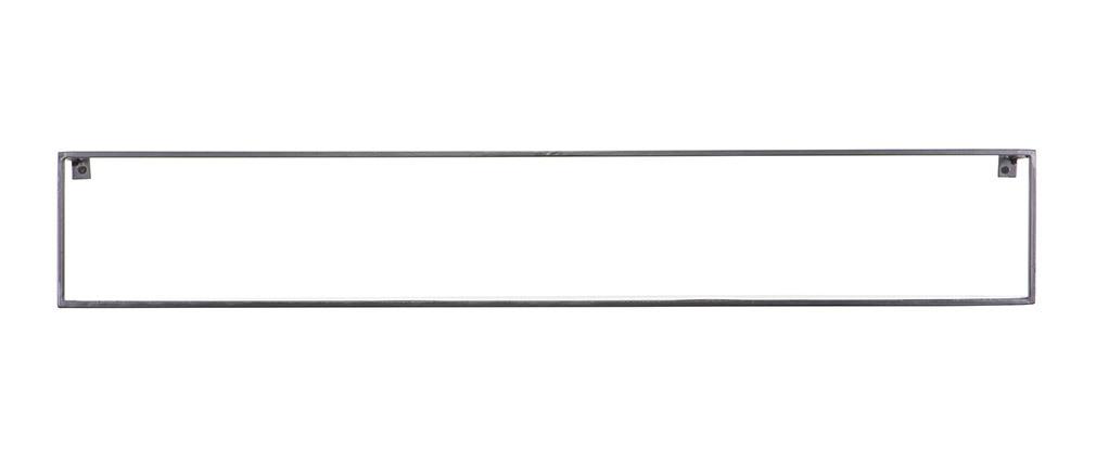 Estantería de pared metal negra 100cm GLENN