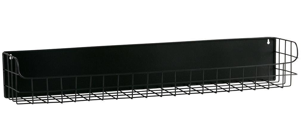 Estantería de pared metal negro 80cm MANUFACTURE