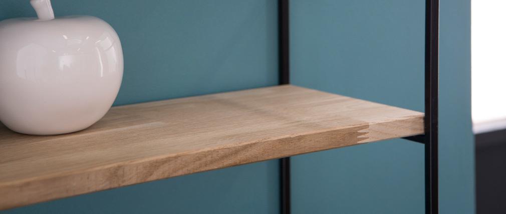 Estantería de pared metal y madera 70cm SCALE