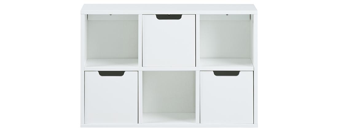 Estantería de pared moderna blanca SNOOP