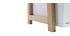 Estantería diseño lacado blanco mate y madera STOKA