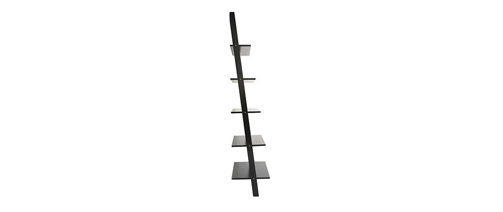 Estantería escalera en madera color negro CAMINO
