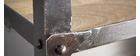 Estantería estilo industrial de metal y madera maciza ATELIER