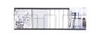 Estantería horizontal negro 104x32cm FACTORY