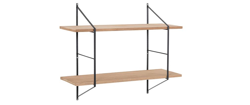 Estantería mural diseño madera y metal BRIDGE