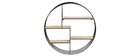 Estantería mural diseño redonda madera y metal ENSO