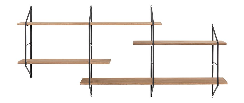 Estantería mural XL madera y metal BRIDGE