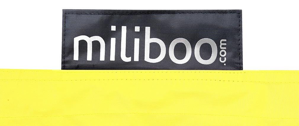Funda de puff gigante amarillo BIG MILIBAG