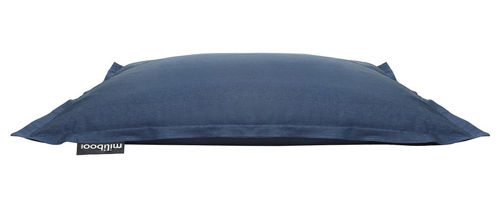 Funda de puff gigante en algodón azul jean BIG MILIBAG