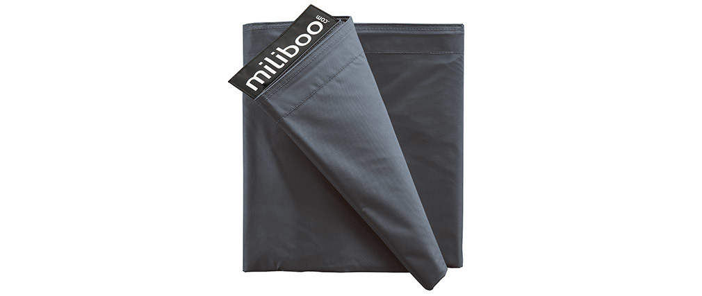 Funda de puff gigante gris BIG MILIBAG