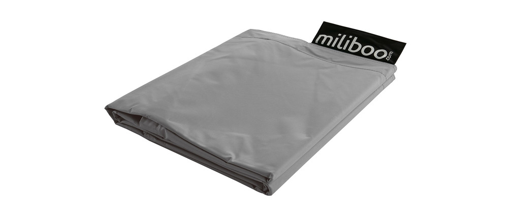 Funda de puff gigante gris BIG MILIBAG