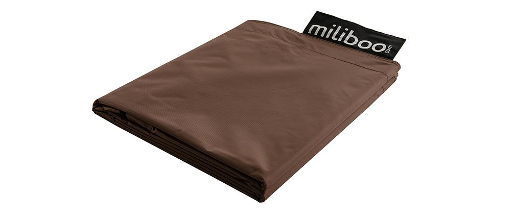 Funda de puff gigante marrón BIG MILIBAG