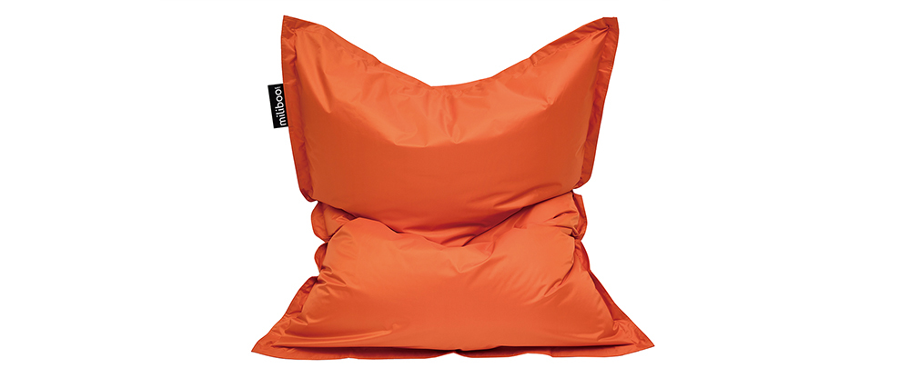 Funda de puff gigante naranja BIG MILIBAG