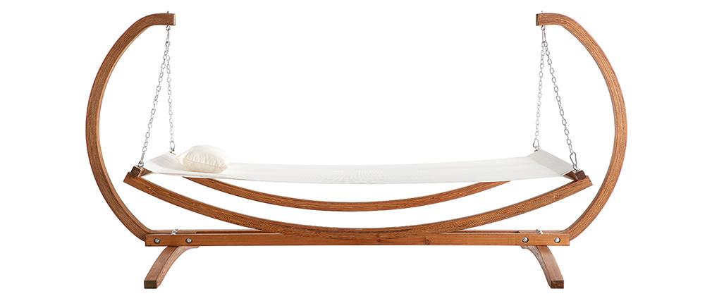 Hamaca de jardín blanco marfil HENDAYE