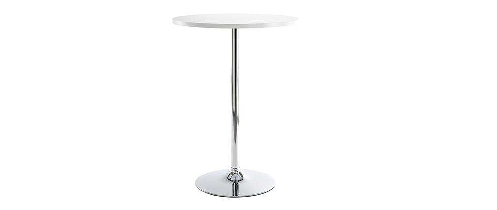 La mesa de bar JAMES de color  blanco