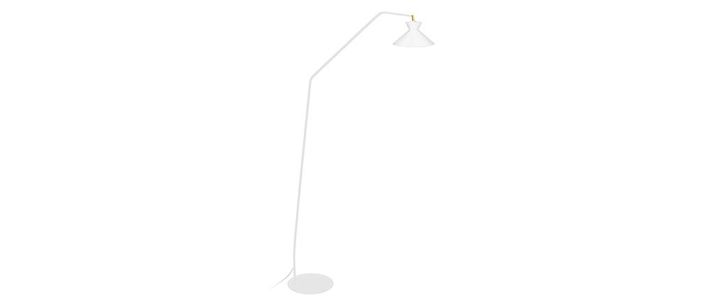 Lámpara de lectura diseño acero blanco LEEDS