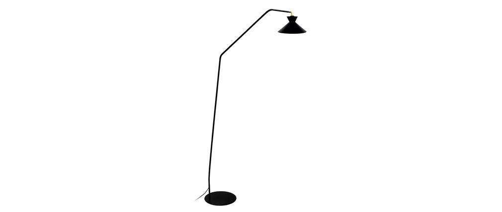 Lámpara de lectura diseño acero negro LEEDS