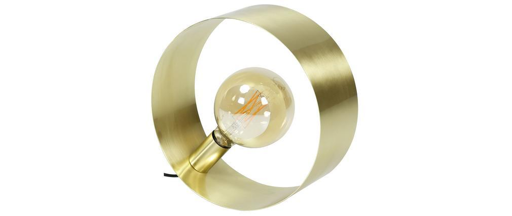 Lámpara de mesa A30cm metal cepillado ORIA