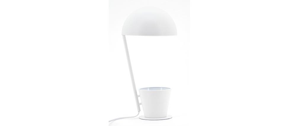 Lámpara de mesa con lapicero en metal blanco PENNY