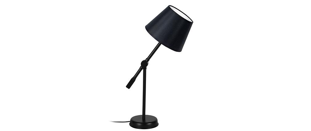 Lámpara de mesa diseño articulada acero negra LUCIO