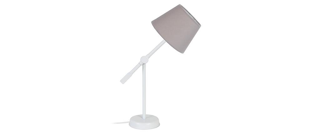 Lámpara de mesa diseño articulada acero topo LUCIO