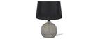 Lámpara de mesa diseño cristal ahumado negra SECRET