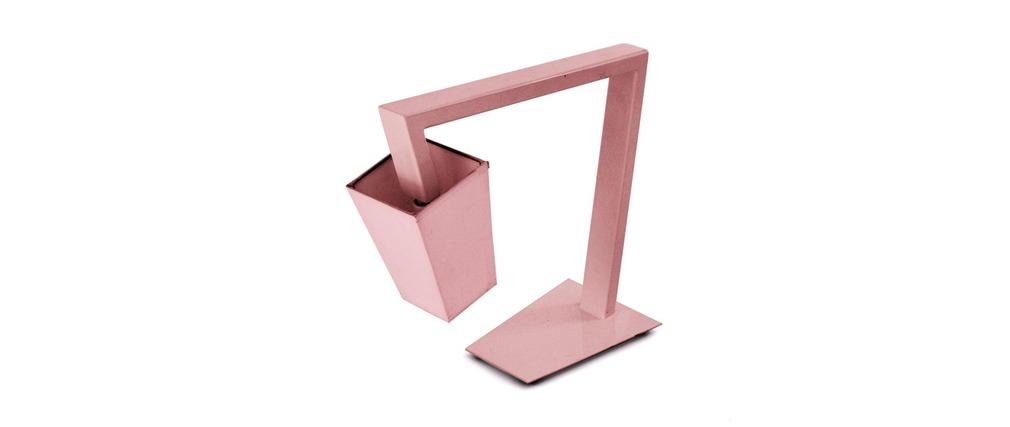 Lámpara de mesa diseño CROSSFADE Rosa