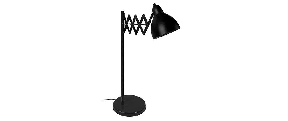 Lámpara de mesa diseño extensible acero negra HARMONICA