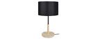 Lámpara de mesa diseño madera negro ELIOT