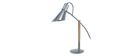 Lámpara de mesa diseño madera y acero cromado SOUND
